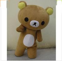 mascotes de urso adulto venda por atacado-2018 Desconto venda da fábrica Janpan relaxamento urso mascote trajes tamanho adulto para festa de Halloween de alta qualidade mascote trajes