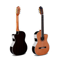 Wholesale high grade guitar for sale - Group buy 39 inches Cutaway acoustic guitar Rosewood high grade pine plywood light