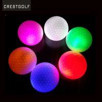 bola de la noche que brilla intensamente al por mayor-GOLDBALL Night Golf Balls Best Golpe Ultra Brillo Glow Pelota de Golf LED Bolas de Práctica de Golf de Dos Capas