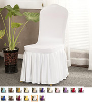 Wholesale Wedding Chair Covers Party Banquet Decorations Colorful Universal Spandex Long Wedding Chair Covers
