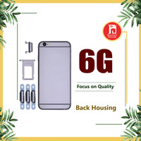 Wholesale rear cover iphone - For iPhone 6 6G Housing Battery Cover Coque with LOGO & Buttons & Sim Tray +Custom IMEI Fundas Chassis Rear Door Middle Frame Metal Case