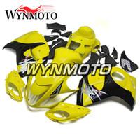 sarı siyah hayabusa fairing toptan satış-Suzuki Yılı 2008 2009 için 10 11 12 13 14 15 2016 GSXR1300 Hayabusa ABS Enjeksiyon Kaportaları Yüksek Kalite Sarı Siyah Kaporta Yeni