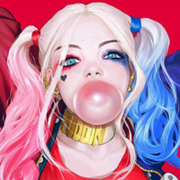 Wholesale halloween witch cosplay for women online – ideas syntetic wig cosply costume Harleen Quinzel Cosplay Wigs Mixed Color Synthetic Hair Peruca Harley Quinn Cosplay Wig halloween wigs for women