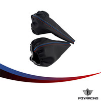 коробка передач оптовых-PQY - рычаг коробки передач Механическая для BMW 3 серии Е36 Е46 м3 смены машины ручник гетры Shift загрузки кожаный ботинок автомобиля-стайлинг PQY-SBC13