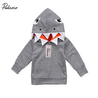 Wholesale hoodie for toddler for sale - Group buy Casual Toddler Kids Boys Shark Hooded Tops Hoodie Pocket Jacket for boy Coat Outerwear