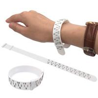 ingrosso misuratori di misura-Bracciale Sizer Gauge regolabile Bangle Misure 15-25cm Creazione di gioielli Bracciale Dimensionamento Strumenti Strumento fai da te