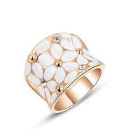 anéis de banda de cristal austríaco venda por atacado-Incrustada de cristal austríaco das mulheres anel de moda rosa ouro anel de personalidade, anel de diamante das mulheres da moda europeia Banda Anéis