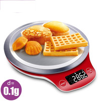 Wholesale stainless kitchen scale resale online - Portable Mini Electronic Digital Scales Pocket Case Scale Kitchen Stainless Steel LCD Weight Measure Digital Balance gs Y