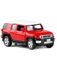 metall-modell auto spielzeug groihandel-1:32 solilight Toyota FJ Kreuzeransammlungsmodellauto Legierung ziehen Autospielzeug diecast Metallmodellspielzeugfahrzeug freies Verschiffen zurück