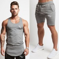 Wholesale tank tops styles for men - 2018 New Fashion Summer Short Sets Men Casual Vanquish Printing Suits For Men Chinese Style Suit Sets Tank Tops + Shorts