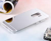 huawei g6 hüllen großhandel-Für LG G7 G6 G5 HUAWEI Y5 2018 Y9 2018 Y7 PRIME EHR 6X 7X 7A MATE 10 Spiegelgehäuse Galvanik Chrom Weiche TPU-Gehäuseabdeckung