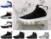 Wholesale Lace Shoes Ivory - Air retro 9 men basketball shoes LA OG Space Jam cool grey Anthracite The Spirit doernbecher 2010 release Tour Yellow PE sports Sneaker