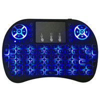 Wholesale wireless keyboards colors for sale - 3 Colors Backlight Mini i8 GHz Wireless Keyboard Air Mouse Touchpad i8 Backlit Remote Controlers For Android TV BOX With Package