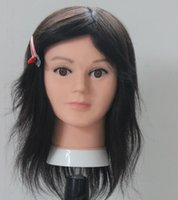 Wholesale Head Model For Hair - wholesale 1PC Women model dummy mannequins PVC head training human hair presents with male head,makeup practice heads for display,M00675