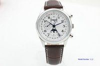 Wholesale Master Collection - Men's Luxury brown leather automatic Tradition Master Collection white dial L2 man Watch