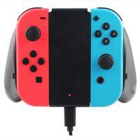carregador para nintendo venda por atacado-Carga de Aperto de carregamento para Nintendo Interruptor Joy-Con Controlador de Carregamento Grip Interruptor Estação de Carregador de Tomada Apertos Com Caixa de Acessórios Do Jogo