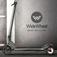 scooters électriques à deux roues achat en gros de-Planche à roulettes électrique originale de scooter Widewheel pour scooter électrique de roue large de 48V de scooter de roue de deux roues 500W