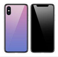 Wholesale iphone change for sale - Group buy Gradual Colorful Gradient Change Phone Case Shockproof Hard Back cober new Case Cover for iPhone X