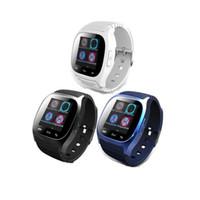 nouveau podomètre de montre achat en gros de-New Hot Smartwatch M26 Bluetooth Smart Watch Avec LED Alitmeter Lecteur de Musique Podomètre Pour Apple IOS Android Smart Phone DHL