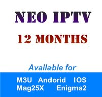 Wholesale Hot Tv - HOT French IPTV 12-Month NEOTV Pro PLUS IPTV Arabic Belgium for Android Smart TV Box as XIAOMI H96 X96 X92 MAG254 M3U Samsung SmartTV