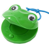 Wholesale castanets toys resale online - One Piece Cartoon Castanets Plastic frogs Lovely and sturdy Great for Prechool children Percussion Toy