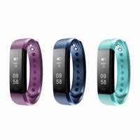 bluetooth bilekliği toptan satış-Akıllı Spor Bilezik Spor Aktivite Tracker Bileklik Kalp Hızı Monitörü IOS Ve Andriod Için Bluetooth 4.0 Fitbit Izle Bilezik