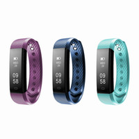 Wholesale Blue Wrist Watches - Fitbit Smart Sports Bracelet Fitness Activity Tracker Wristband Heart Rate Monitor Bluetooth 4.0 Fitbit Watch Bracelet For IOS And Andriod