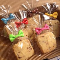 Wholesale Wholesale Cookie Bags Supply - DIY Baking bread bag sealing bowknot cookie packing bags wire lollipop cake pops packing tie free shipping wen5764