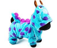 parka azul de invierno al por mayor-Nuevo perro de mascota caliente ropa de perro en invierno frío Visual perro de dragón azul abrigos Parkas para perro de York Outfit