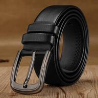 hebilla de jeans de marca al por mayor-Cinturones de alta calidad de los hombres Diseñador de la marca de lujo Cinturones retros hombres Pin hebilla de cuero de la PU de la superfibra para la correa masculina para los pantalones vaqueros