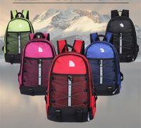 nylon campingtaschen großhandel-The North F Rucksack Lässige Rucksäcke Reisen Outdoor Sports Taschen Teenager Schüler Schultasche 5 Farben