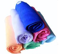 el bezi havlu toptan satış-Toptan-100 adet Kare Yumuşak Mikrofiber Havlu Araba Temizleme Yıkama Temiz Bez Mikrofiber Bakım El Havlusu Ev Temizlik