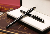 Wholesale Office Fountain - Luxury Meisterstceks 163 Black Roller Ballpoint pen Fountain pens with office school supplies MB brand writing gift pen and Series number