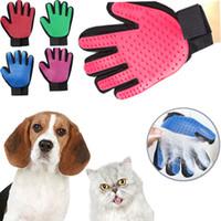 masaj köpek eldiveni toptan satış-VoFord Pet Köpek Saç Fırçası Eldiven Pet Temizlik Masaj Bakım Tarak Kaynağı Için Parmak Temizleme Pet Kediler Saç Fırçası Eldiven Hayvan