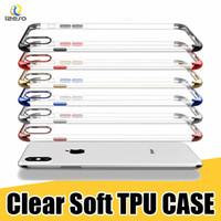 galvanisierte iphone klare fälle großhandel-Luxus-TPU-Schutzhülle für das iPhone 11 Pro XS MAX XR X 8 7 Huawei P30 Galvano-Lasermalerei Stoßfest Durchsichtige, weiche Hüllen