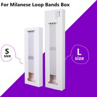 Wholesale kinder watch - Retail Pack Box Milanese Nylon Loop Universal Bands Box For Apple Watch Strap Watchband Retail Package Paper Box 4 kinds White