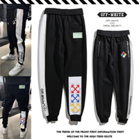 Wholesale dryer pa online - 2018 new ss autumn and winter clothing fashion men and women models quality trousers Color matching retro embroidered back pockets card pa