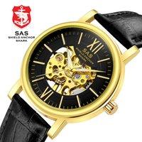 часы наручные оптовых-shark  mechanical watches For men quartz gold sport   watches male gift Montre Homme Relogio Masculino