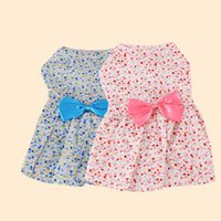 Wholesale winter accessories sets resale online - New Summer Apparel Pet Miniskirt Lovely Floral Bow Dog Princess Dress Fashion Puppy Clothes Hot Sale yh Ww