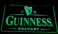 Wholesale guinness bar signs - LS073-g Guinness Vintage Logos Beer Bar Neon Light Sign Decor Free Shipping Dropshipping Wholesale 8 colors to choose