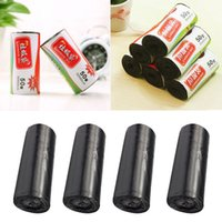 Wholesale Kitchen Trash Bags - Thick Rubbish bags black point off Kitchen Home Toilet Clean-up Black Rubbish Garbage Clean-up Waste Trash roll Bags 50x60cm FFA046