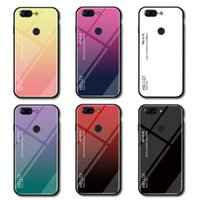 Wholesale oneplus tempered glass for sale - Slim Gradient Color Smooth Tempered Glass Case For Oneplus T OnePlus T One Plus