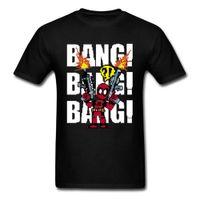 impresión de píxeles al por mayor-NUEVA Marvel Deadpool Camisa de Hombre Pixel Comic Gráfico Fresco 100% Algodón Camiseta para hombre hombre 2018 nueva Moda Impreso Moda Ronda