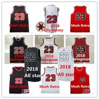 Wholesale Sports Wear Man - Mens jerseys Top quality #23 Jerseys Youth Classical All star Basketball Kids Jersey Men Sports wear embroidered Logos Cheap sports shirts