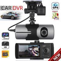 Wholesale mirror gps camera resale online - Dual Lens GPS Camera HD Car DVR Dash Cam Video Recorder G Sensor Night Vision
