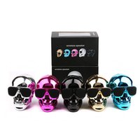 бесплатный bluetooth оптовых-Портативный череп Bluetooth колонки череп голова призрак беспроводной стерео сабвуфер Мега бас 3D стерео ручной аудио плеер динамик