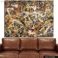 duvar sanatı beatleri toptan satış-Jackson Pollock Buffallo Sanat Galerisi natürmort Soyut yağlıboya Çizim sanat Sprey Çerçevesiz Tuval handmade42114463