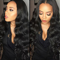 Wholesale Glueless Full Lace Wigs Dhl - DHL Shipping Long Body Wave Lace Front Human Hair Wigs With Baby Hair Heat Resistant Glueless Brazilian Full Lace Wigs for Black Women
