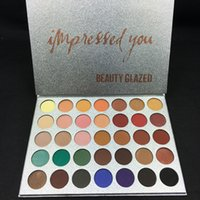 Wholesale 1pcs eyeshadow palette resale online - 1pcs makeup Brand Beauty Glazed colors Eyeshadow Palette Matte Must Have Palette Shimmer Impressed You Top Qaulity