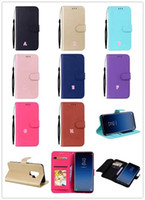 Wholesale Iphone Straps - Fashion Multifunction Leather Wallet Case For Iphone X 8 7 6 6S Galaxy S9 Plus S8 Frame Card ID Card Slots Flip Cover Pouch Kickstand Strap